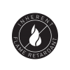 inherent flame retardant round logo v2